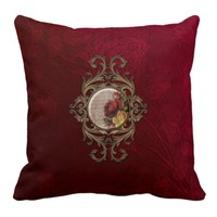 Ornate Vintage Floral Pillows