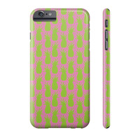 Green and Pink Pineapple Phone Case