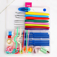 Durable and practical 16 Different sizes Crochet hooks Needles Stitches knitting Craft Case crochet set in Case Yarn Hook Sewing