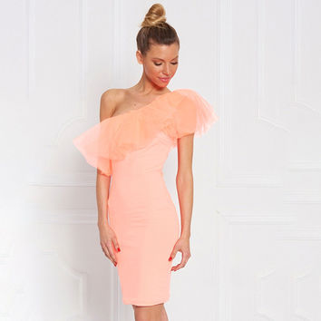 Ladies Summer Sexy Ruffle One Piece Dress [11629962063]