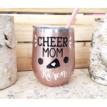 Cheer Mom Wine Tumbler
