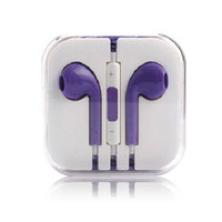 PURPLE Earbud Earphone Headset Earpods for Apple iPhone 5 5S 6 6PLUS