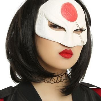 Licensed cool DC  Suicide Squad Assassin KATANA Adult Half Face Costume Cosplay Mask NEW