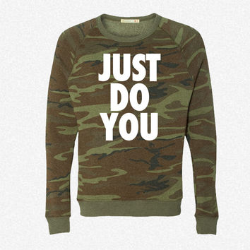 Just Do You fleece crewneck sweatshirt