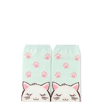 Cat Graphic Ankle Socks