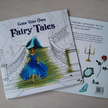 Fairy Tales 24 Pages Secret Garden Styles Coloring Book For Children Adult Relieve Stress Painting Drawing Books
