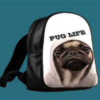 Funny Pug Life for Backpack / Custom Bag / School Bag / Children Bag / Custom School Bag *
