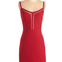 Mid-length Spaghetti Straps Sheath Thanks Very Mesh Dress