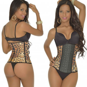 Brown Leopard Waist Shaper 2024