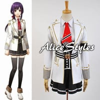New Japanese Anime Kamigami no Asobi Yui Kusanagi Deluxe Uniforms Cosplay Costuems Custom made to Order