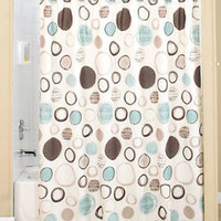 Otto Bathroom Shower Curtain Circles Design Contemporary Style Bath Decor