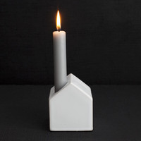 Sono House Candleholder - White - Darkroom - A concept store on London's Lamb's Conduit St