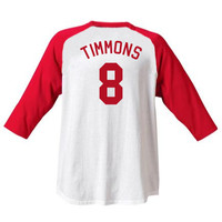 Timmy Timmons Sandlot Jersey T-Shirt Baseball Movie Costume 90's Sand Lot #8 New
