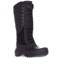 The North Face Thermoball Utility Quilted Winter Boots, TNF Black/Kokomo Green, 5 US / 36 EU