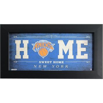 New York Knicks 6x12 Home Sweet Home Sign