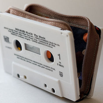 Melrose Place cassette wallet by pocketetc on Etsy