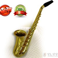 Ylyycc New Type Metal Tobacco Pipe Saxophone Smoking Pipe