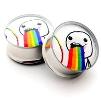 Meme Picture Plugs Style 9 - 3/4 Inch - 19mm - Sold As a Pair
