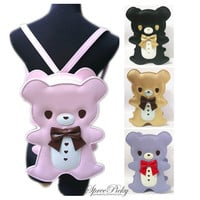 Lolita Kawaii Teddy Bear Backpack/Crossbody Bag/Shoulder Bag 3 Ways Of Using Free Shipping SP140640 from SpreePicky