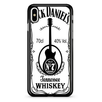 Jack Daniels White iPhone X Case