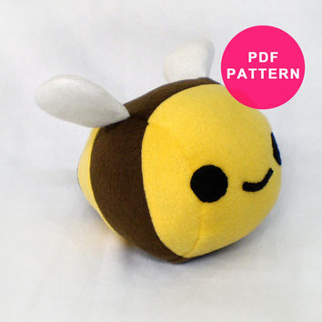 Plushie Pattern - Plush Bumble Bee Sewing Pattern PDF
