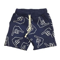 Kid's 'Full On' Shaka Sweatshort in Navy