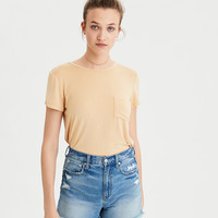 AE Soft & Sexy Pocket T-Shirt, Yellow