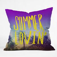 Leah Flores Summer Lovin Outdoor Throw Pillow