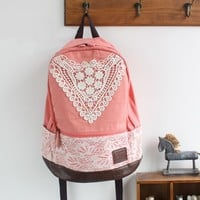 Canvas Backpack with Lace — FashionForever