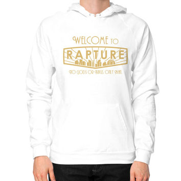 Bioshock Welcome to Rapture Hoodie (on man)