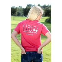 Southern Darlin  Classy Sassy & Southern Bow Anchor Bright Girlie T-Shirt