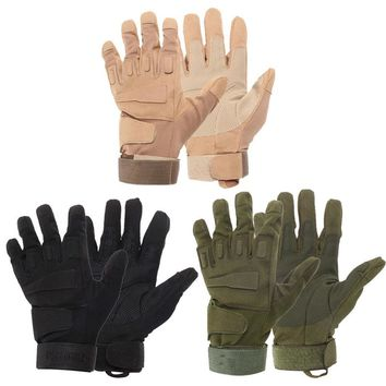 Outdoor Tactical Gloves Full Finger Sports Hiking Riding Cycling Military Men's Gloves Armor Protection Shell Gloves 3 Colors