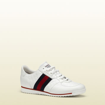 Gucci - SL73 lace-up sneaker with signature web 234359A9LA09051