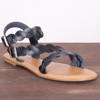 Braided Strap Sandal - Black