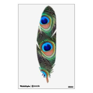 Peacock Feathers Photo Wall Decal