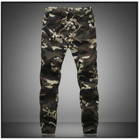 M-5X 2017 Mens Jogger Pencil Harem Pants Men Camouflage Military Pants Loose Comfortable Cargo Trousers Camo Joggers