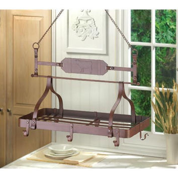 Iron Country Kitchen Pot Rack - Cowboy
