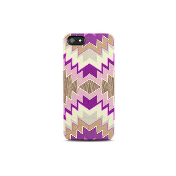 ARROWS Phone Case Wood Print iPhone 5 Cover Wood Print Pink Chevron iPhone Case Geometric Cases iPhone 4 Case Chevron, iPhone 5c Case Boho