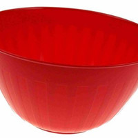 Lot 2 Bradshaw 7 Quart Popcorn Kitchen Party Bowl Red Plastic Large 11 In Snacks