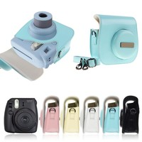 For Fuji Fujifilm Instax Mini8 PU Leather Camera Shoulder Strap Bag Case Pouch