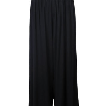 Casual Sport Elastic Waist Cotton Palazzo Pants For Women