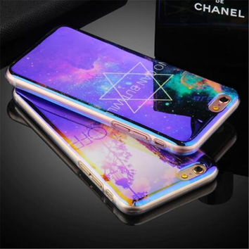 Luxury Blu-ray Diamond Soft TPU Cell Phone Protection skin shell back cover For Apple iPhone 5 5S SE 6 6S 6Plus 7 7Plus cases
