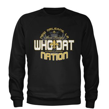 Who Dat Nation New Orleans (Color) Adult Crewneck Sweatshirt
