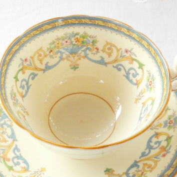Vintage Aynsley Henley Tea Cup and Saucer,Tea Party, Ornate, English Bone China, Wedding, Ca. 1980's