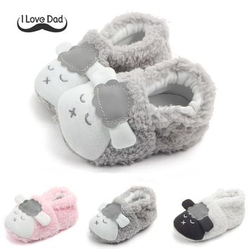 Newborn Boys Girl Shoes Children Winter Boots Winer Warm Thick Baby First Walkers Infant Cute Sheep Soft Baby Slipper Crib Shoes