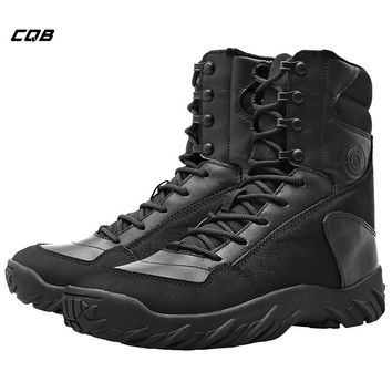 CQB Outdoor Sports Tactical Combat Boots for Camping Climbing Winter Warmth Trekking Men's Boots Male Shoes for Hiking
