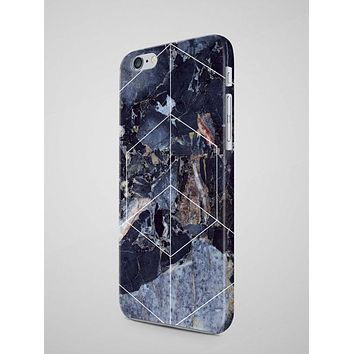 Geometric Blue MARBLE IPHONE 8 Case Marble iPhone - Free Shipping