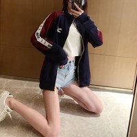"""""""Puma"""" Couple Sport Casual Retro Solid Color Leisure Hooded Sweater Print Long Sleeve Zip Cardigan Jacket Coat Baseball Clothes"""