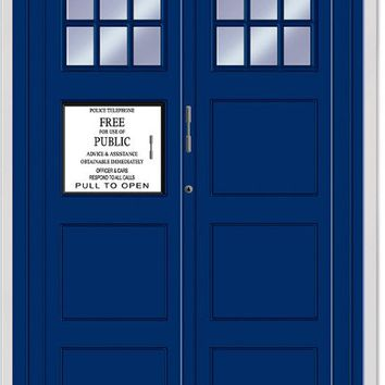 police call box door cover Case of 12