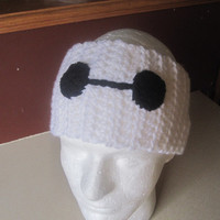 Baymax Big Hero 6 Crochet Ear Warmer/Headband